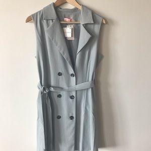 NWT ASOS re:name Longline Belted Jacket Vest Dress